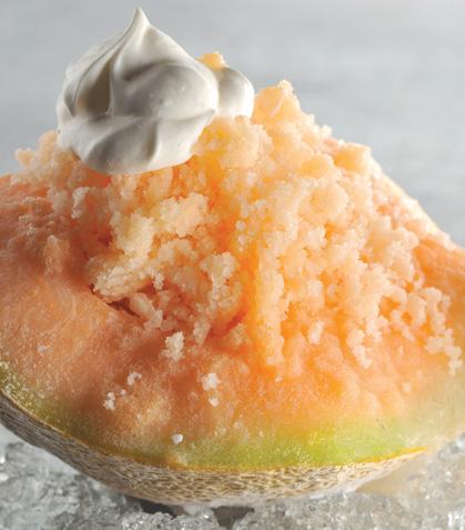 Granita de melón y crema