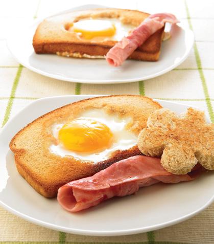 Huevos enmarcados