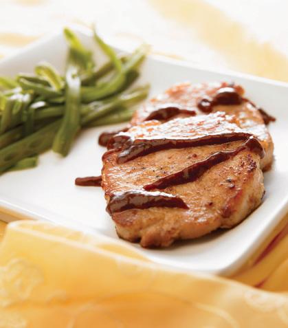 Lomo de cerdo con salsa de ciruela