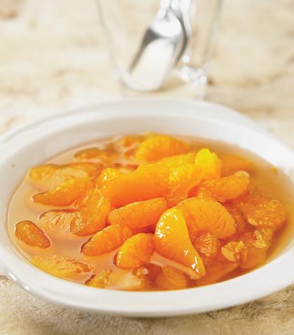 Mandarinas al brandy