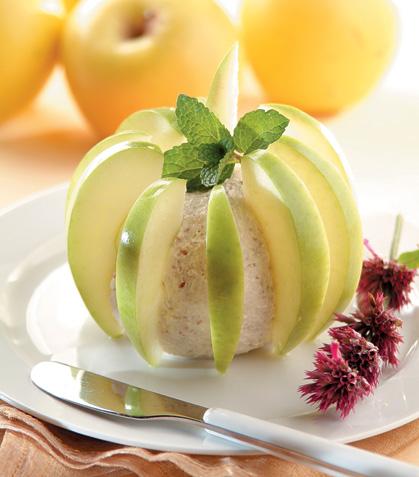 Manzanas con queso