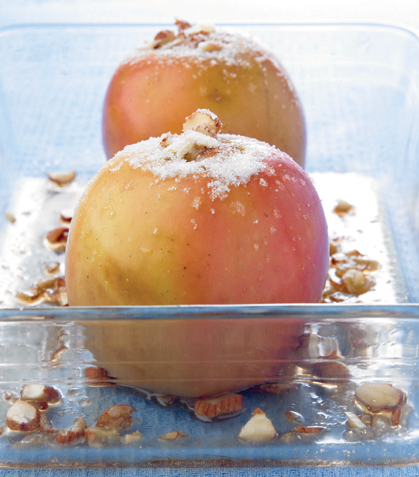 Manzanas horneadas al brandy