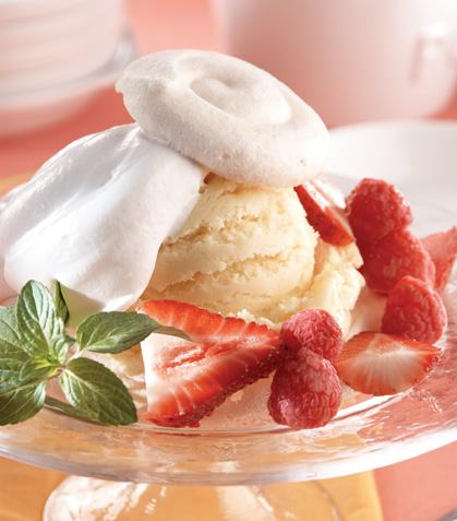 Merengues fáciles con helado