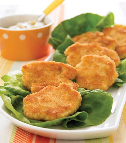 Nuggets de pollo con chutney de pera