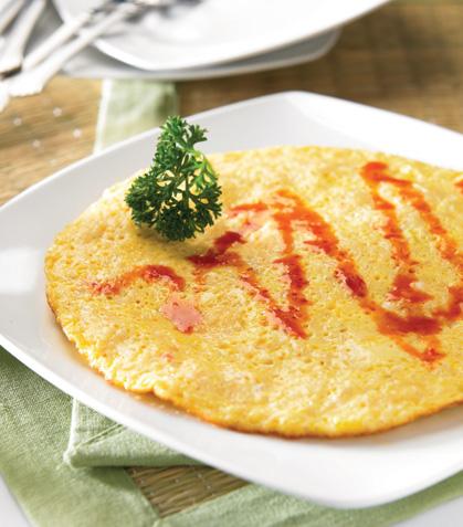 Omelette de cangrejo