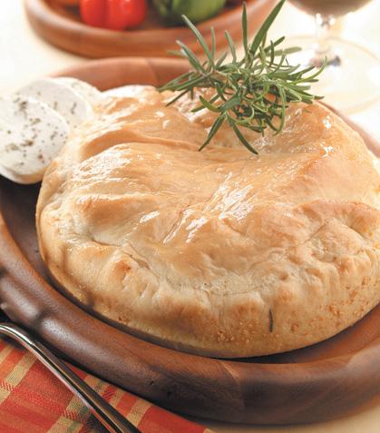 Pan de pimiento asado con queso de cabra