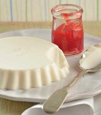 Panna cotta de yogur