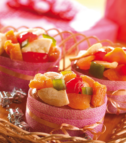 Panqués navideños con frutas