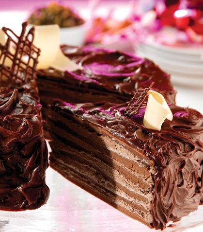 Pastel de crepas con chocolate