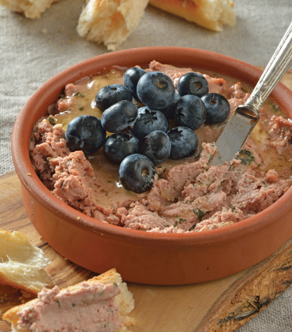Paté de hígado de pollo con blueberries