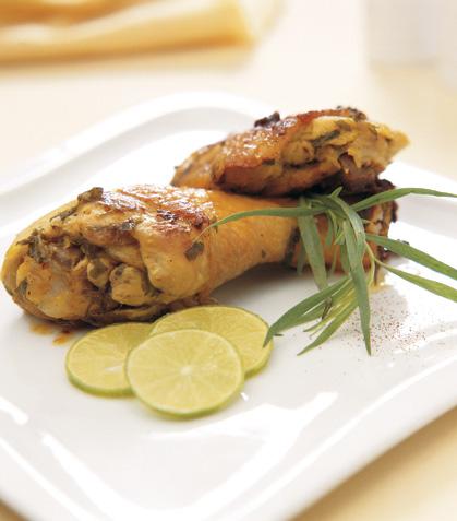 Pollo al estragón con champiñones