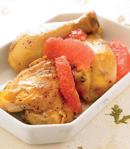 Pollo marinado a la toronja