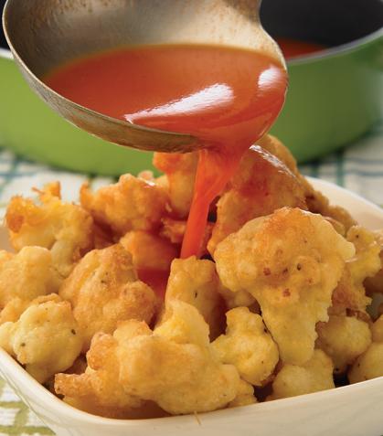 Ramitos de coliflor en chile morita