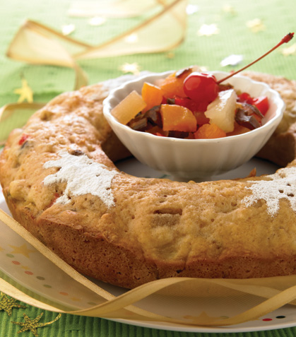 Rosca estilo fruitcake
