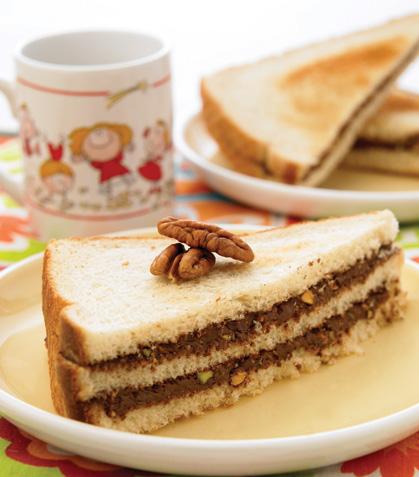 Sándwiches de crema de avellana