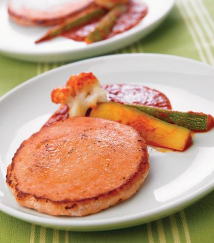 Salmón con salsa de guajillo