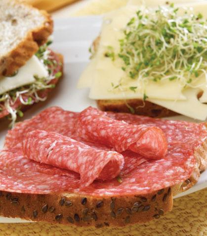 Sándwich de salami