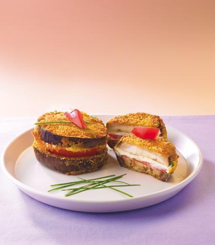 Sándwiches de berenjena con queso a la parrilla