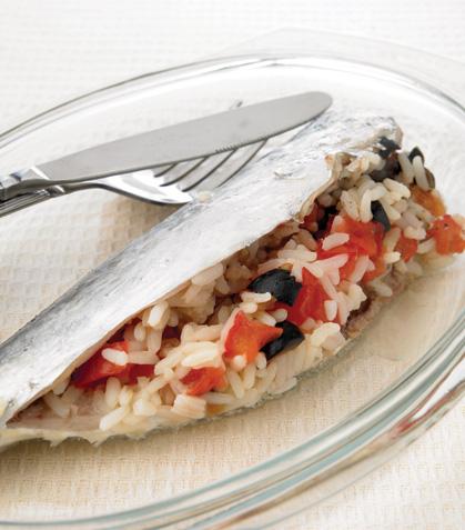 Sardinas rellenas de arroz