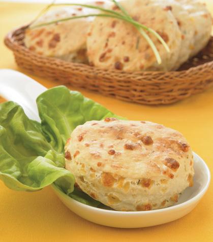 Scones de queso y cebollín
