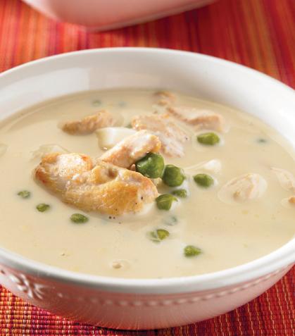 Sopa cremosa de arroz