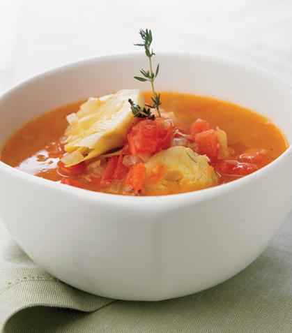 Sopa de alcachofas
