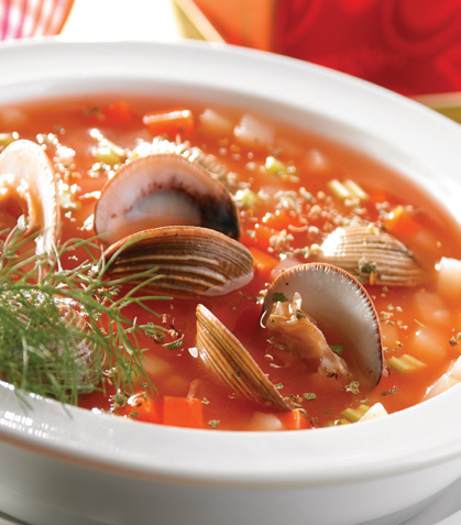 Sopa de almejas