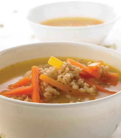 Sopa de cebada y zanahoria