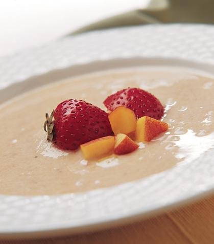 Sopa de frutas y yogur