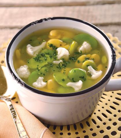 Sopa de haba y coliflor