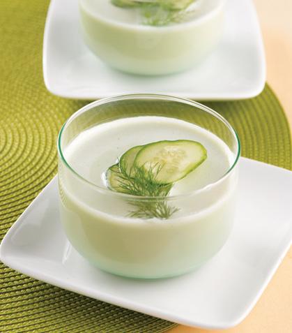 Sopa de pepino frío