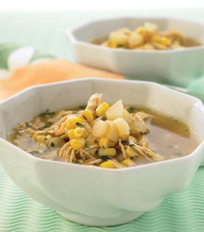 Sopa de pollo y elote