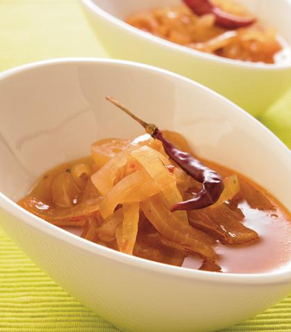 Sopa picante de cebolla