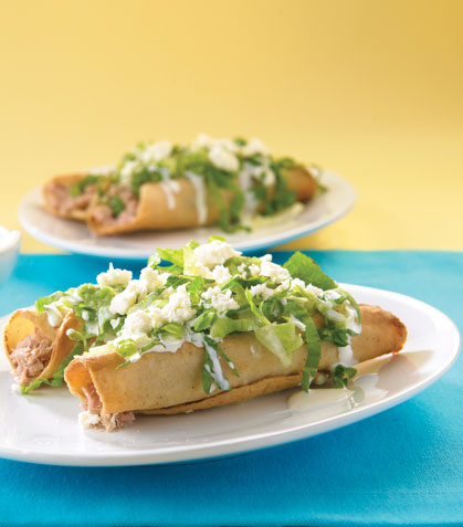 Tacos dorados de atún