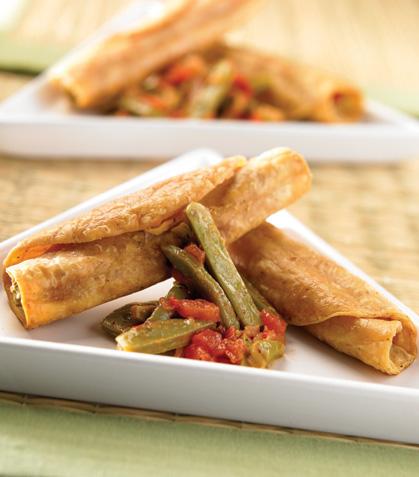 Tacos dorados de nopal