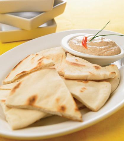 Taramasalata en pan pita
