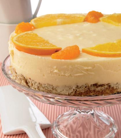 Tarta helada de naranja y mandarina