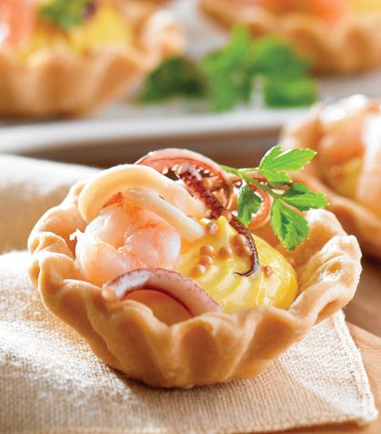 Tartaletas de mariscos