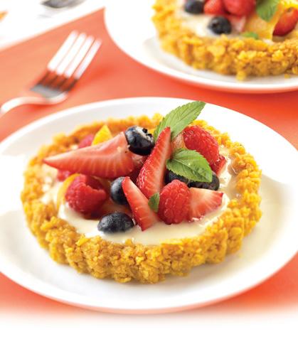 Tartaletitas con costra de cereal rellenas de fruta