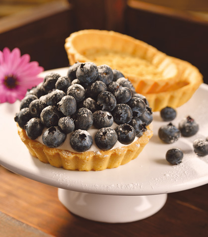 Tartas de queso con blueberry