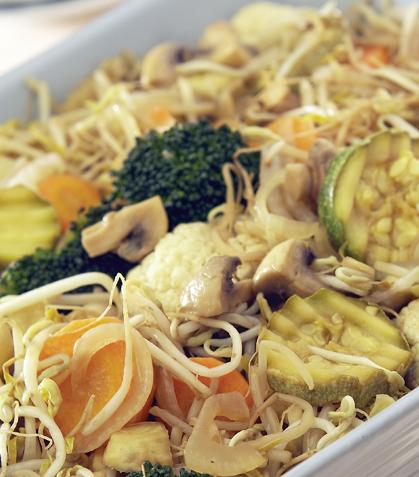 Tepanyaki de vegetales