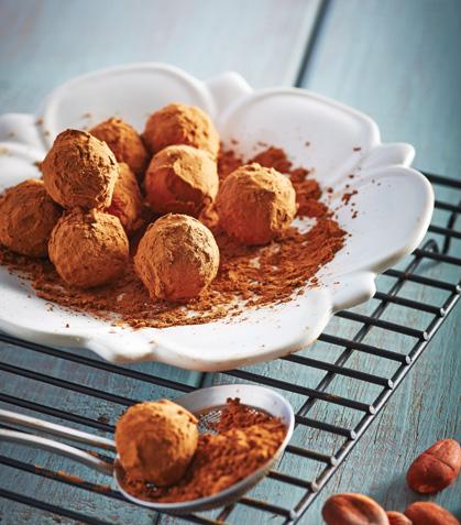 Trufas de chocolate con nuez de la India