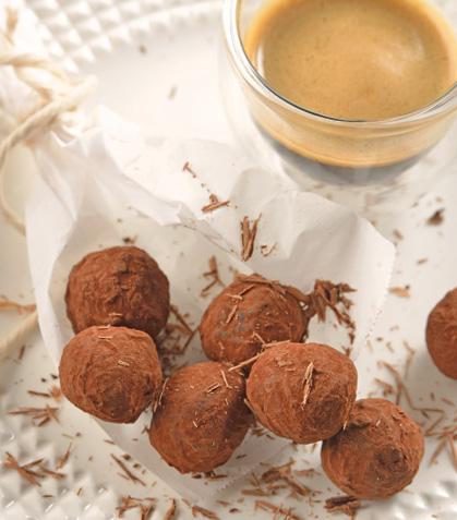 Trufas de chocolate y jengibre