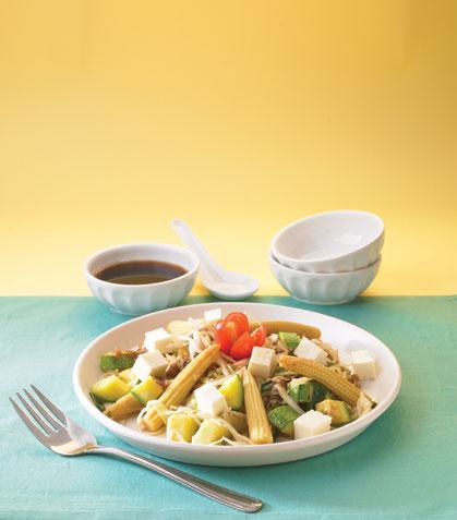 Vegetales estilo thai