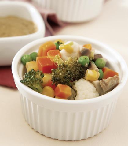 Verduras al pesto