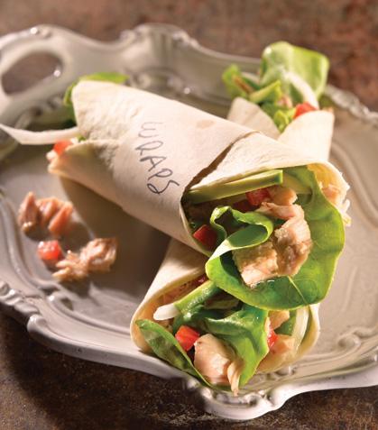 Wrap de ensalada de atún