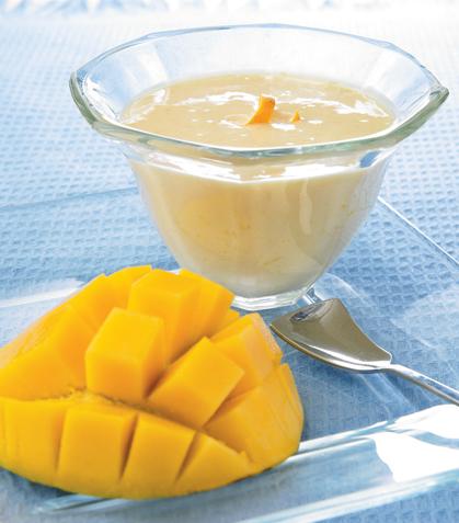 Yogur de mango y naranja