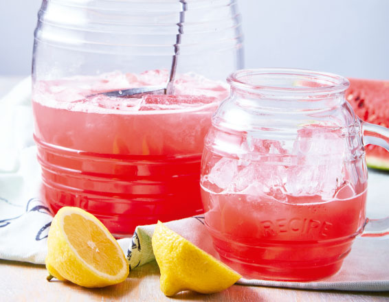 Agua de sandía con limón