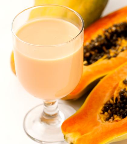 Batido de papaya y chabacano