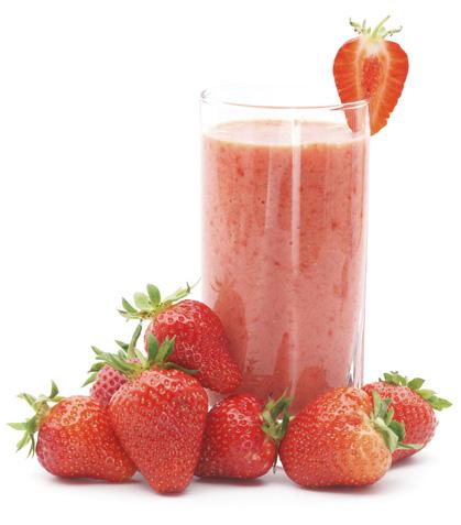 Bebida gaseosa de fresa